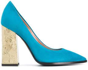 Pollini contrast heel pumps