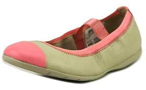 Clarks Dance Brite Round Toe Leather Flats.