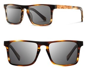 Shwood Men's 'Govy 2' 52Mm Polarized Sunglasses - Black/ Maple/ Grey