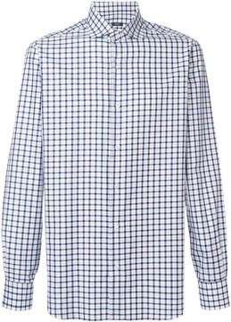 Barba classic checked shirt