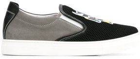 Fendi Kids printed slip-on sneakers