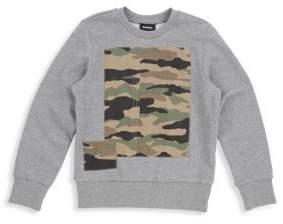 Diesel Little Boy's& Boy's Camouflage-Print Cotton Sweatshirt