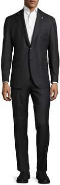 Lubiam Men's Herringbone Wool Suit