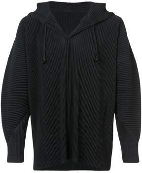 Issey Miyake Homme Plissé ribbed hoodie