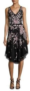 Aidan Mattox Beaded Floral Dress