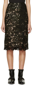 Erdem Black and Nude Lace Sarah Skirt