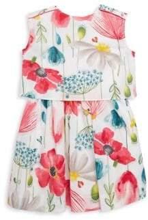 Catimini Little Girl's & Girl's Sleeveless Floral Dress