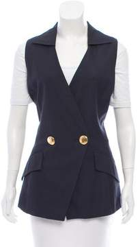 Christian Dior Double-Breasted Pointed Collared Vest