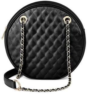Aspinal of London Jackie O Bag In Black Quilted Kaviar