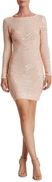 Dress the Population Lola Geometric Sequin Mini Dress
