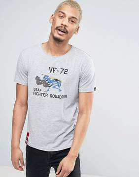 Alpha Industries T-Shirt Fighting Hormet Regular Fit in Gray Marl