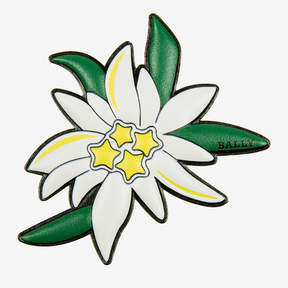 Bally Edelweiss Flower Leather Sticker