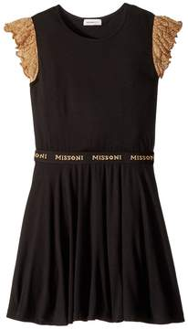 Missoni Kids Lace Sleeve Jersey Dress Girl's Dress