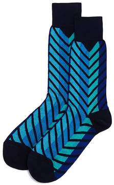 Bloomingdale's The Men's Store at Exploded Chevron Socks - 100% Exclusive