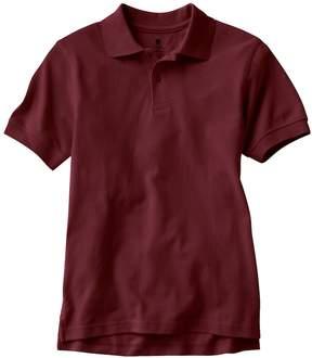 Chaps Boys 4-20 Solid Pique School Uniform Polo