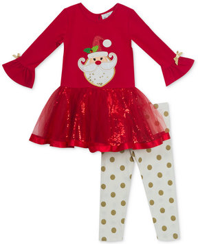 Rare Editions 2-Pc. Holiday Tutu Tunic and Leggings Set, Baby Girls (0-24 months)