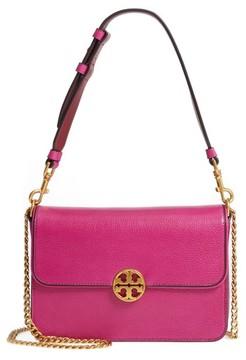 Tory Burch Chelsea Genuine Leather Shoulder Bag - Pink