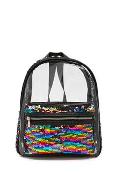 Forever 21 Rainbow Sequin Transparent Backpack