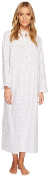 Eileen West Flannel Ballet High-Neck Nightgown Women's Pajama