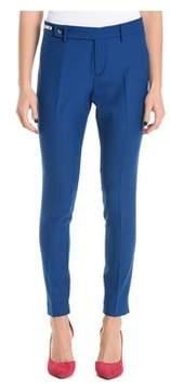 Berwich Women's Blue Polyester Pants.