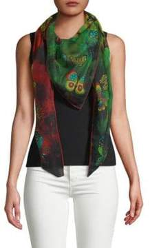 Valentino Butterfly-Print Scarf