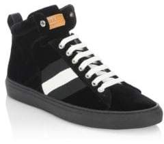 Bally Hedern Velvet High-Top Sneakers