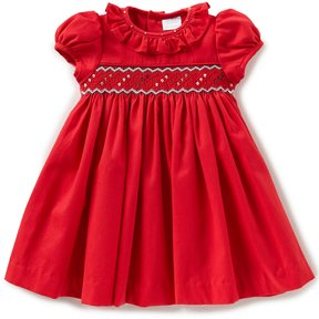 Edgehill Collection Baby Girls 3-24 Months Smocked Short-Sleeve Dress