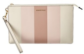 MICHAEL Michael Kors Daniela Large Leather Wristlet. - PINK MULTI - STYLE