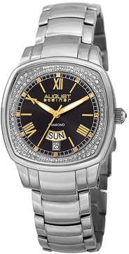 August Steiner Womens Silver Tone Strap Watch-As-8193ssb