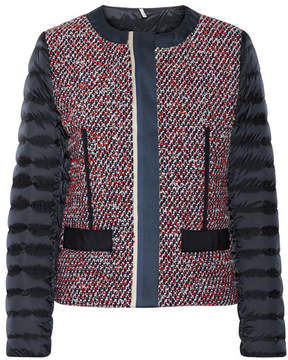 Moncler Ossau Tweed And Quilted Shell Down Jacket - Navy