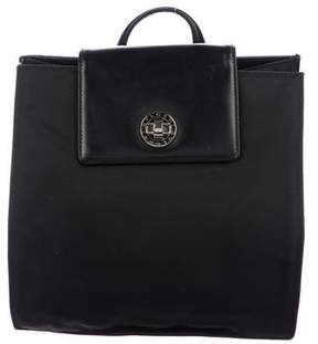 Bvlgari Leather-Trimmed Nylon Backpack
