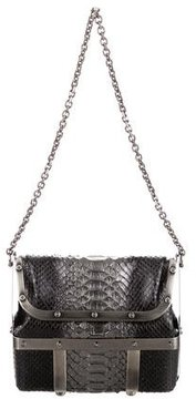 Judith Leiber Shelby Snakeskin Caged Bag