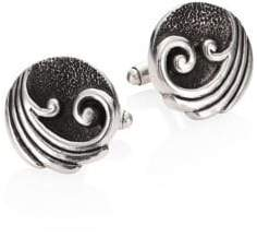 King Baby Studio Sterling Silver Wave Cuff Links