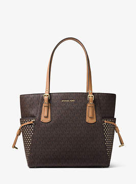Michael Kors Voyager Small Logo Tote - BROWN - STYLE