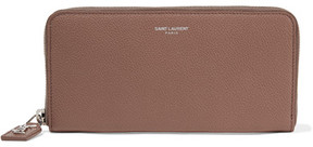 Saint Laurent Rive Gauche Textured-leather Continental Wallet - Taupe - TAUPE - STYLE