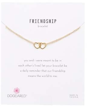 Dogeared 14K Gold Vermeil Friendship Linked Open Heart Bracelet
