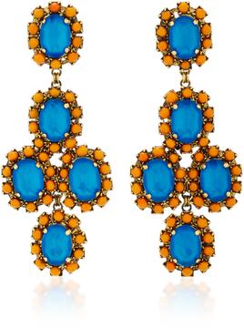 Erickson Beamon Funhouse 24K Gold-Plated Crystal Earrings