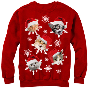Fifth Sun Red Catmas Pullover Sweatshirt - Men's Regular
