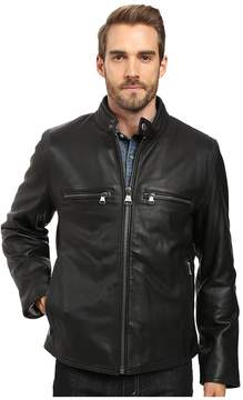 Andrew Marc Bedford Calf Skin Moto Men's Coat