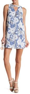 Dee Elly Mock Neck Sleeveless Print Dress