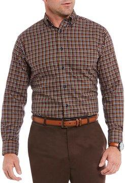 Daniel Cremieux Signature Non-Iron Plaid Royal Oxford Long-Sleeve Woven Shirt
