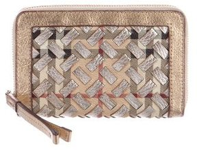 Burberry Metallic House Check Wallet - METALLIC - STYLE
