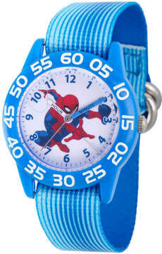 Marvel Spiderman Boys Blue Strap Watch-Wma000172