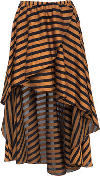 Caroline Constas Adelle Asymmetric Striped Skirt