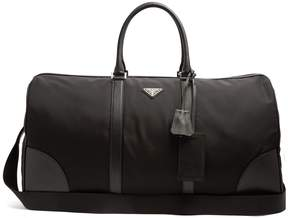 Prada Boston leather-trimmed nylon holdall