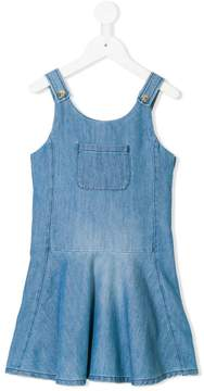 Chloé Kids denim dungaree dress