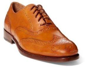 Ralph Lauren Atley Calfskin Wingtip Tan 10