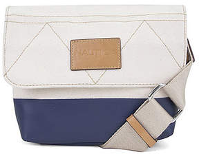 Nautica Modern Trail Flap Crossbody - Navy & Natural Colorblock