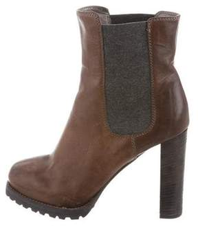 Brunello Cucinelli Distressed Platform Boots