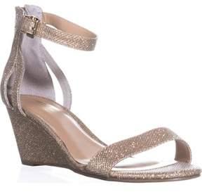 Thalia Sodi Ts35 Areyana Ankle-strap Wedge Sandals, Gold.